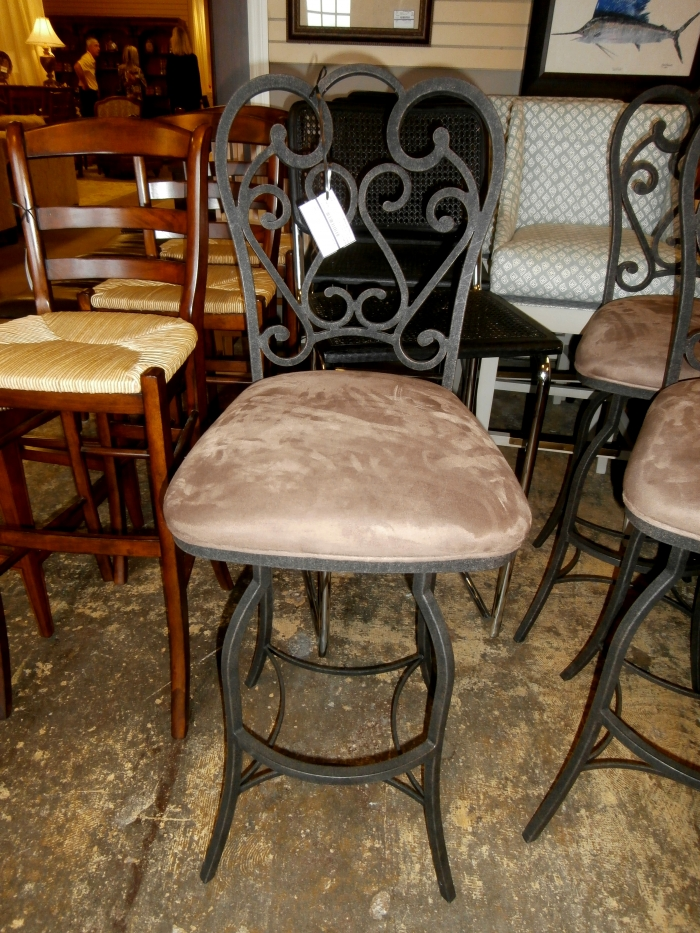 Set Of 3 Iron Back Bar Stools At The Missing Piece