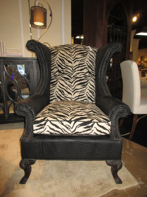 Zebra Croc Chair At The Missing Piece