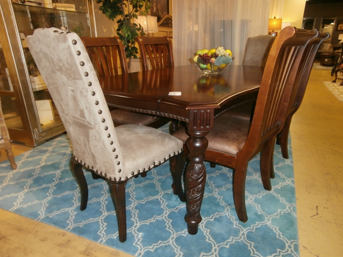 kincaid dining table and chairs at the missing piece. Black Bedroom Furniture Sets. Home Design Ideas