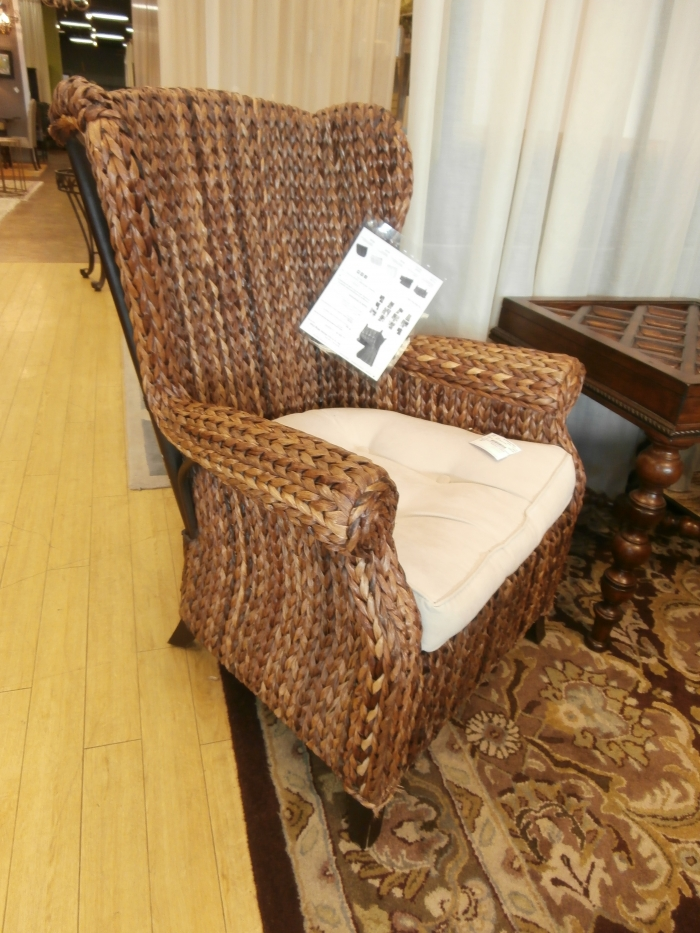 pier 1 woven chair at the missing piece. Black Bedroom Furniture Sets. Home Design Ideas