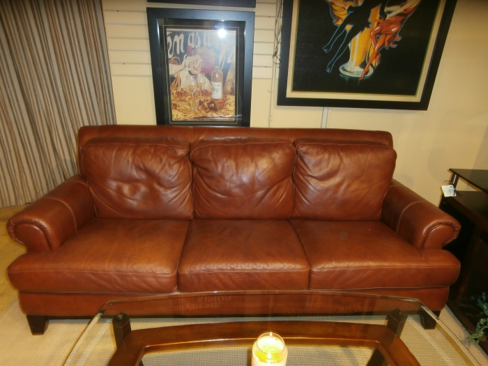 Macys Leather Couch At The Missing Piece