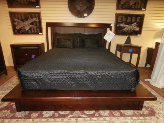 american drew bed at the missing piece. Black Bedroom Furniture Sets. Home Design Ideas